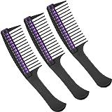 3 Packs Hair Comb, Comb Roller, Detangling Roller Comb Integrated Hair Roller Comb, Anti Splicing Comb for Salon Barber Hair