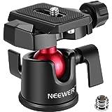Neewer カメラビデオ三脚ボールヘッド 360度回転パノラマボールヘッド 1/4インチクイックシュープレートとバブルレベル付き DSLRカメラビデオカメラ三脚一脚用 最大負荷11ポンド/5キロ