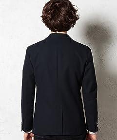 Polyester Cotton Hopsack Blazer 3222-186-0250: Navy