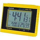 CASIO(カシオ) 目覚まし時計 電波 デジタル ダブルアラーム 温度 湿度 カレンダー 表示 イエロー DQD-5000J-9JF