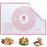 Local Kitchen Large Silicone Baking Mat for Rolling Dough (40cmx60cm) Pastry Mat with Measurements Extra Thick Non Stick Fond
