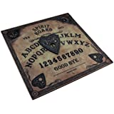 Wood Occult Fortune Telling Toys Nemesis Now Celestial Antique Look Wooden Spirit Board 15 X 15 X 0.25 Inches Black
