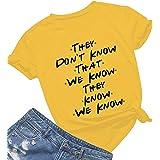 Womens Cute Graphic Crewneck T Shirt Junior Tops Teen Girls Graphic Tees