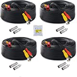 Anlink 4Pack 4K 8MP 5MP 4MP 1080P 100Ft 30 Meters Pre-Made All-in-One BNC Cables for Security Camera System and CCTV Bullet C