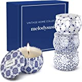 MelodySusie Aromatherapy Scented Candles for Home - Natural Soy Wax 4.4 Oz Portable Travel Tin Candle with Gardenia,Jasmine,L