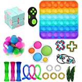 Fidget Toys Set, Fidget Toy Pack for Adults and Kids, Sensory Toys, Push pop Bubble, Figetget Toys Pack for Stress and Anxiet