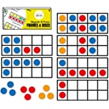The Best Life Magnetic 10 Frame Set Math Manipulatives Magnetic Math Frames, 6 Frames and 66 Colorful Disc Counters (Upgraded