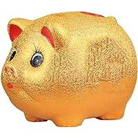 コインチェンジマネーバンク セラミックゴールド豚貯金箱子供貯金箱大容量ラッキージュエリーギフト 子供のおもちゃ、ギフト