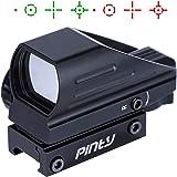 Pinty(ピンディー) ドットサイト ダットサイト マルチドット 照準器 サバゲー用 20mmレール対応 4種マルチレティクル 2色 レッド/グリーン 輝度調整可 防振防水 軽量 日本語説明書付き