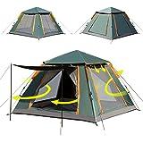 Shinyever テント ワンタッチテント 2~3人用 4人~5人用 簡易テント 二重層 キャンプテント ワンタッチ 設営簡単 折りたたみ 前室付き uvカット 通気性 4面の大型メッシュ 防水 軽量 キャンプ用品 アウトドア
