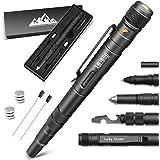 EDC Pen Gift for Men Survival Pen Multitool Gadgets for Men 5 In 1 LED Flashlight Pen Outdoor Tool Ideal Gifts for Dad Boyfri