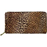 HUGS IDEA Women Fashion PU Leather Long Wallet Clutch Bag Storage Purse Natural Pattern