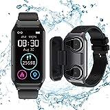 Smart Watch Earbuds 2 in 1, TWS Earbuds with Fitness Tracker Watch, Waterproof Bracelet with Step Calories, Sleep Tracker, He