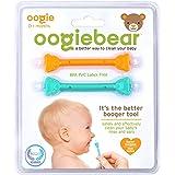 oogiebear(ウーギーベア) 赤ちゃんの鼻水・鼻くそ取り ウーギーベア お鼻掃除スコップ オレンジ/シーフォーム 2本入り