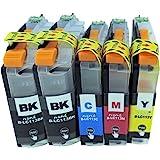 brother ブラザー LC113 (BK/C/M/Y)+BK 計5本セット 残量表示可能ICチップ付 互換インクカートリッジ 最優良品質【ハニハニ製 1年サポート】