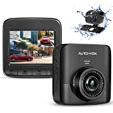 AUTO-VOX D5PRO Dual Dash Cam Front and Rear, 1520P Car Dashboard Camera Recorder, Built-in Super Capacitor,Two Ways Installat