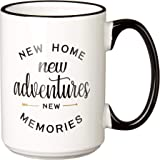 New Home 15 oz Ceramic Coffee Mug | Premium House Warming Party Present Lettered Tea Cup | First Time Home Owner Gifts for Me