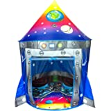 Rocket Ship Play Tent Playhouse | Unique Space and Planet Design for Indoor and Outdoor Fun, Imaginative Games & Gift | Folda