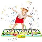 "Kids Piano Play Mat 39.5"" X 14"" Piano Floor Mat Music Piano Keyboard Mats Electronic Musical Carpet for Toddlers Boys Girls"