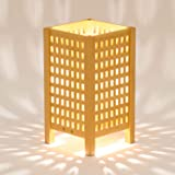 木のあかり 雫(しずく)Sサイズ テーブルランプ 組子照明 青森ヒバ製 国産手作り 25w