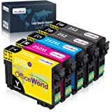 OfficeWorld Remanufactured Ink Cartridge Replacement for Epson 252XL 252 XL to use with Workforce WF-3620 WF-3640 WF-7610 WF-