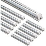 Barrina LED Shop Light, 8FT 72W 8500LM 5000K, Daylight White, V Shape, Clear Cover, Hight Output, Linkable Shop Lights, T8 LE