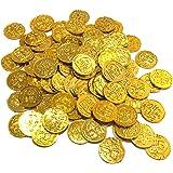 Almmy.6 ゴールド コイン 金貨 100枚 おもちゃ 海賊 財宝 パーティー 小物 コスプレ小物