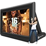 Inflatable Movie Screen Outdoor – Screens for Christmas Movies Outside – Mega Blow Up Rear Projection – Just Set Up Your Proj