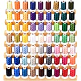 Simthread 63 Colors 40Wt Polyester Embroidery Machine Thread Kit for Brother Kenmore Janome Pfaff Bernina Singer Embroidery a