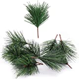Shxstore-1 Artificial Green Pine Needles Branches Small Pine Twigs Stems Picks for Christmas Flower Arrangements Wreaths and
