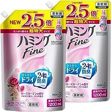 【まとめ買い】ハミングFine ローズガーデンの香り 詰替用 1200ml×2個