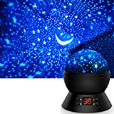 Star Projector, Night Lights for Kids 360-Degree Rotating Star Moon Projection Lamp with LED Timer Auto-Shut, Multicolor Gala