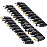 SoulBay 34pcs Universal Laptop Notebook Input DC Plug Set Jack Tips for Lenovo Toshiba Dell HP Asus and Most Laptops