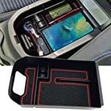 JOJOMARK for 2019 Toyota RAV4 Accessories Center Console Organizer Tray Armrest Box Secondary Storage Fit 2019 2020 Toyota RA