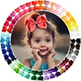 "40 Colors 4.5"" Hair Bows Clips Grosgrain Ribbon Bows Hair Alligator Clips Hair Barrettes Hair Accessories for Girls Toddler I"
