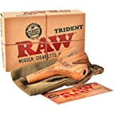 Raw Trident Wooden Cigarette Holder (Limited Edition) Brown