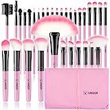 Makeup Brushes, VANDER 32pcs Professional Soft Synthetic Kabuki Cosmetic Eyebrow Shadow Makeup Brush Set Kit with Powder Puff