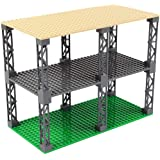 INIBUD 基礎板 ブロック プレート クラシック 互換性 16×32ポッチ 両面 柱付き 板3枚 柱12本 セット