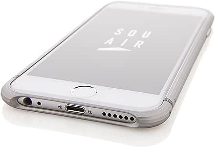 """SQUAIR バンパー """"The Edge"""" iPhone 6 Bumper case for iPhone 6 (4.7インチ) 日本製 iPhone ドレスケース ジュラルミン を贅沢に切削で削り出した 金属製 アルミバンパー ネジ不要   シルバー SQEDG600-SLV"""