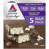 Atkins Endulge Chocolate Coconut Bars   Keto Friendly Bars   5 x 40g Low Carb Coconut Bars   Low Carb, Low Sugar, High Fibre