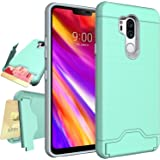 LG G7 Case,LG G7 ThinQ Case,NiuBox Armor [Card Slot Wallet] [Kickstand] Full Body Shock Absorption Protective Phone Case Cove