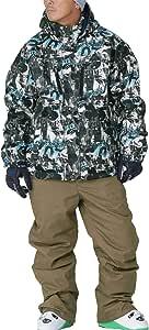 PONTAPES(ポンタペス) スキーウェア 上下セット 全12色柄 XS-3Lサイズ メンズ レディース 耐水圧10,000mm POSKI-127M D-710*M840 XSサイズ スキーウェア スキーウエア スノーボード ウェア スノーウェア スノボウェア スノボー 男性用 女性用 ジャケット パンツ 上下2点セット 防寒 中綿 初心者 滑雪服 套装 総柄 ブルー ブラック ベージュ