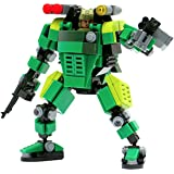 MyBuild Mecha Frame 5 Green Trooper MF05-G01 Building Toy with Cockpit Design Frame System and Mini Soldier Figure All Bricks