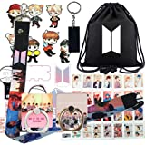Rehero BT Boys Gifts Set for Fans - Map of The Soul Personal, Including Darwstring Bag, Lanyard, Face Mask, Phone Ring Stand,