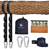 Tree Swing Straps Kit-Two 1.5m Adjustable (20loops total ) Straps Hold 910kg,And Two Heavy Duty Carabiners (Stainless Stell),
