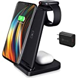 Mclaurin Wireless Charger 3 in 1,15W Wireless Charger Station for Apple Products,Fast Wireless Charger Stand with QC 3.0 Adap