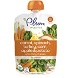 Plum Organics Stage 3, Organic Baby Food, Carrot, Spinach, Turkey, Corn, Apple and Potato, 4 Ounce pouches (Pack of 12) (Pack