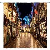 Lileihao Beautiful Harry Potter Fantasy Street Night View Shower Curtain Bathroom Waterproof Polyester Fabric Mildew 69 x 70