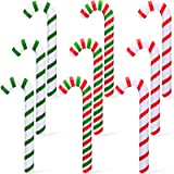 9 Pieces Christmas Inflatable Candy Canes for Christmas Decorations Candy Canes Balloons 3 Colors Outdoor Candy Decorations f
