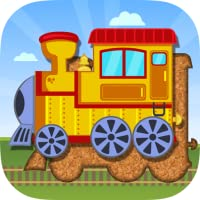 鉄道、飛行機と船 – 幼児向けパズル